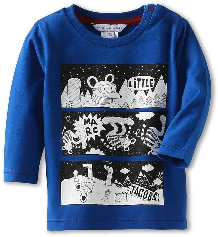 Little Marc Jacobs L/S Printed Tee (Infant) (Encre) - Apparel