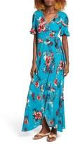 Band of Gypsies Women's Floral Wrap Maxi Dress