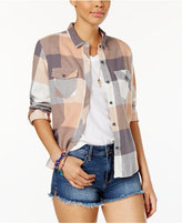 Volcom Juniors' True To This Buffalo-Plaid Flannel Shirt