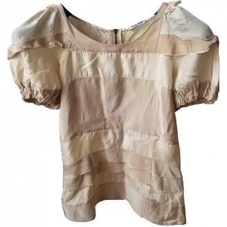 Miu Miu Beige Silk Top for Women Vintage