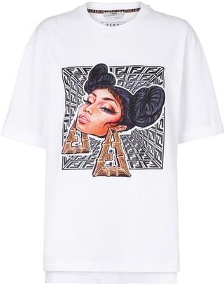 Fendi Prints On graphic-print T-shirt