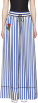 Off-White Blue Striped Pyjama Trousers