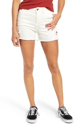 Vigoss High Waist Cutoff Cargo Shorts