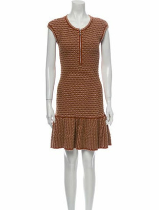 Louis Vuitton Crew Neck Mini Dress Brown