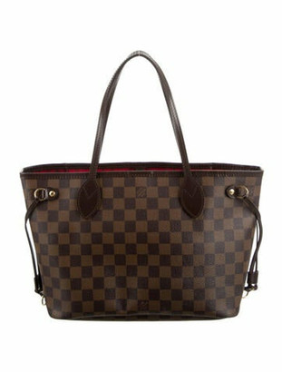 Louis Vuitton Damier Ebene Neverfull PM Brown