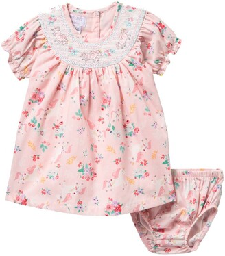 Iris & Ivy Raglan Sleeve Unicorn Print Dress & Bloomers Set