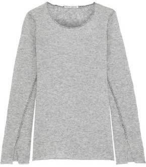 Autumn Cashmere Melange Cashmere And Silk-blend Sweater