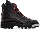 DSQUARED2 Black Lace-up Hiker Boots