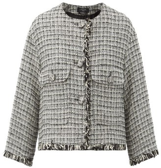 Max Mara Bosco Jacket - Black White