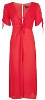 Topshop Red Spot Midi Tea Dress