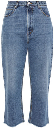 Alexander McQueen Cropped High-rise Straight-leg Jeans