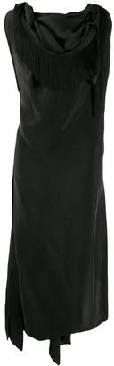aganovich Draped Neckline Dress