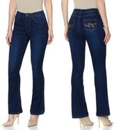 DG2 by Diane Gilman SuperStretch Lite Boot-Cut Jean with Back Pocket Design - Fashion Colors