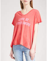 Wildfox Couture Keep Swiping cotton-blend T-shirt