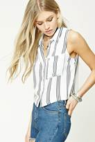 Forever 21 Cropped Striped Top