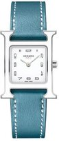 Hermes Heure H PM Watch with Blue Leather Strap