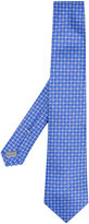 Canali geometric flower tie