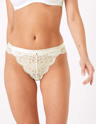 Marks and Spencer Cotton & Lace Thong