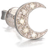Sydney Evan Diamond & 14K White Gold Crescent Moon Single Stud Earring
