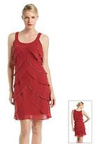 SL Fashions S.L. Fashions Tiered Shutter Dress