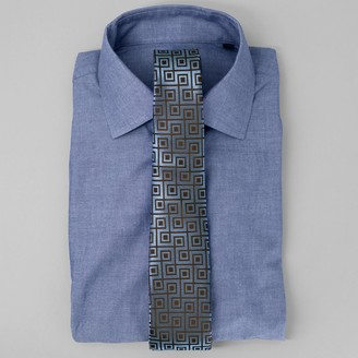 The Tie BarThe Tie Bar Blue Polished Chambray Shirt
