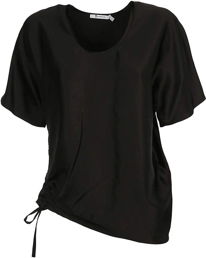 Alexander Wang Draped Short Sleeve Top