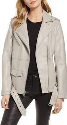 Levi's Oversize Faux Leather Moto Jacket