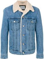 Lanvin lamb fur lined jacket - men - Cotton/Calf Leather/Polyester/Lamb Fur - 48