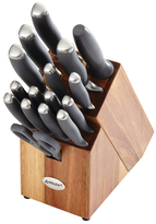 Anolon SureGrip Japanese Stainless Steel Knife Block Set (17 PC)