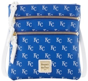 Dooney & Bourke Kansas City Royals North South Triple Zip Purse
