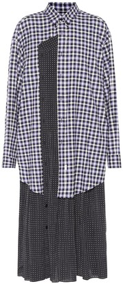 Balenciaga Multi-print shirt dress
