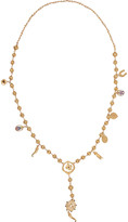 Dolce & Gabbana Gold-plated Swarovksi crystal necklace
