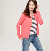 LOFT Signature Cotton Cardigan