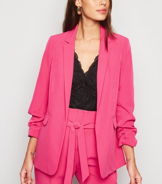 New Look Ruched Sleeve Long Blazer
