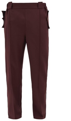 Boramy Viguier High-rise Side-stripe Wool Trousers - Red