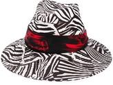 Missoni zebra-print hat