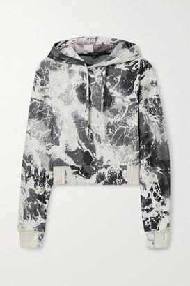 Twenty Montreal Seafoam Hyper Reality Intarsia Cotton-blend Hoodie - Gray