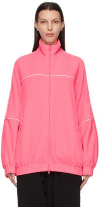 Balenciaga Pink Double-Brushed Fleece Track Jacket