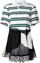 Koché patchwork striped asymmetric top