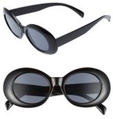 BP Women's 52Mm Oval Sunglasses - Black