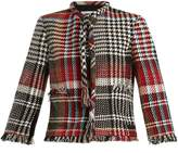 Oscar de la Renta Fringed cotton-blend tweed jacket