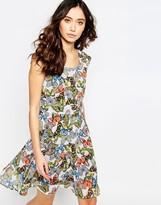 Iska Tie Back Dress in Multi Butterfly Print