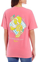 Lily Grace Squeeze The Day Graphic Short-Sleeve Tee