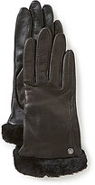 UGG Leather Tech-Smart Gloves with Shearling Cuffs