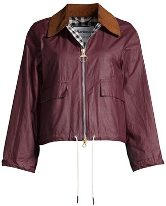 Barbour by Alexa Chung Margot Waxed Cotton Cropped Jacket