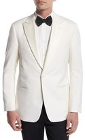 Giorgio Armani Satin-Lapel Dinner Jacket, White
