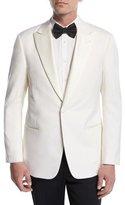 Giorgio Armani Satin-Lapel Dinner Jacket, White