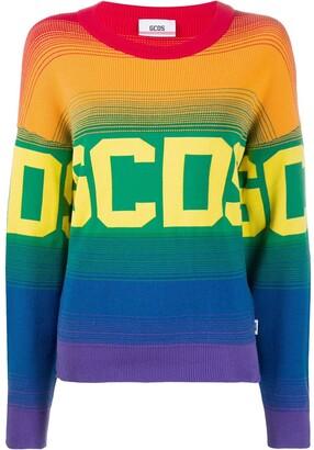 GCDS Knitted Logo Pattern Jumper