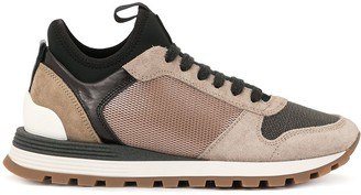 Brunello Cucinelli Panelled Leather Sneakers