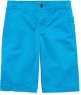 Arizona Flat Front Chino Shorts - Boys 8-20, Slim and Husky